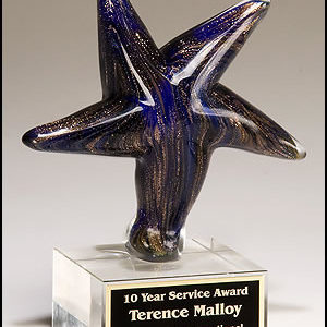 Blue Art Glass Star 2199