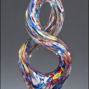 Helix-Shaped Multi-Color on Art Glass Award G2270