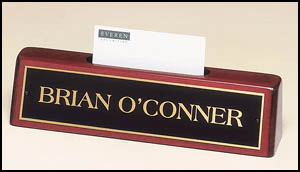 541 Rosewood Piano-finish Nameplate/Business Card Holder