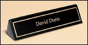 556 Black Piano-finish Nameplate Holder