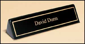 556 Black Piano-finish Nameplate Holder