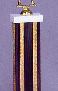 SPECTRUM 6540/6 Black Columned Trophy with Figurine