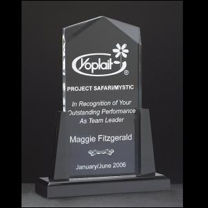 A6585 Peak Shaped Award with Black Acrylic Base