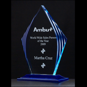 A6727 Blue Accented Acrylic Award