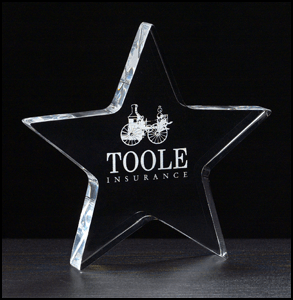 A6730 Acrylic Star Paperweight