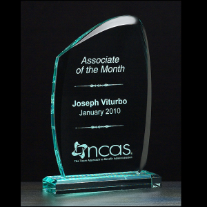 A6738 Jade Acrylic Award with Rounded Edges