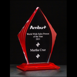 A6833 Red Accented Acrylic Award