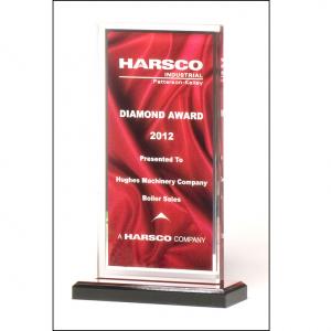 A6873 Red Draped Pattern Acrylic Award