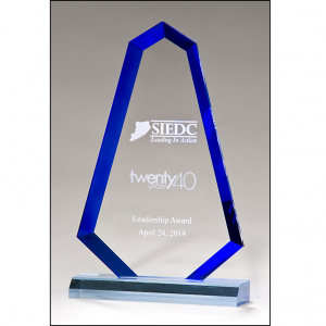 Blue Glass Stand Up Award A6918