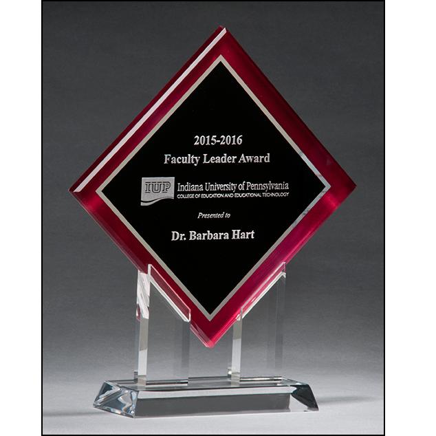 A6989 Engravable Stand up Diamond Acrylic Award
