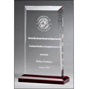 Engravable Apex Series Clear Acrylic Award A7022