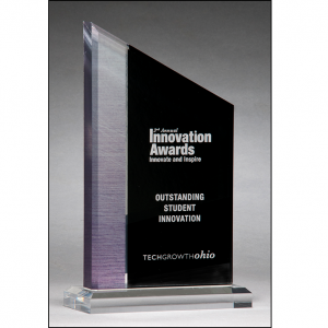 Engravable Brushed Silver Acrylic Award A7061