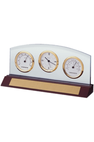B2835 Weston Executive Desk Clock with Thermometer and Hygrometer
