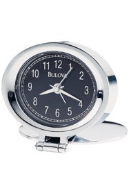 B6842 Adamo Travel Alarm Clock with Engraveable Cover