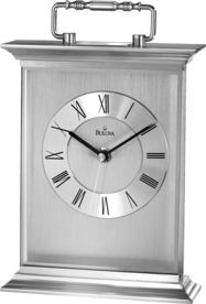 B7472 Newport Silver Carriage Clock