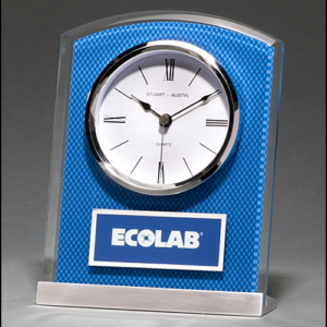Blue Carbon Fiber Glass Clock BC1007