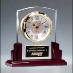 Rosewood Base Glass Clock BC1028