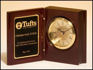 BC834 Rosewood Piano-finish Book Clock
