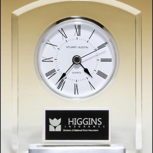 Acrylic Silver Aluminum Clock BC961