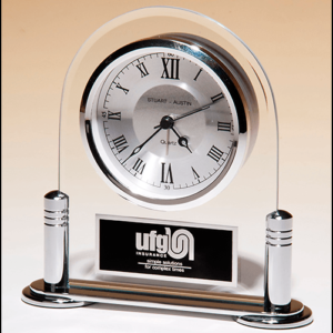 Rounded glass Standup Clock BC999