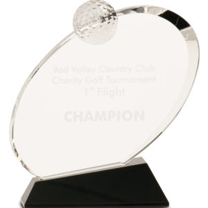 Crystal Oblong Golf Award CRY013