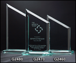 G2460 Zenith Shaped Glass Award
