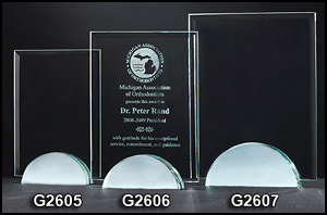 G2605 Rectangular Shaped Glass Award