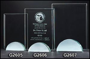 G2605 Rectangular Shaped Glass Award
