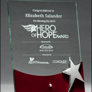 Free Standing Glass Award w/ Star Accent G2792