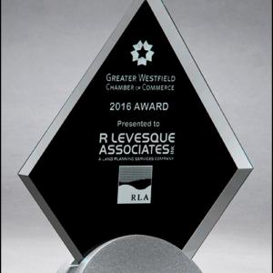 Diamond Shaped Glass Award G2777