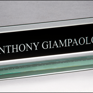 Glass Name Plate G2788