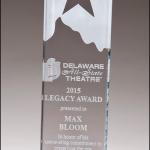 Stand Up Glass Award G2822 Glass