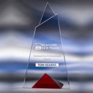 corporate skyward red crystal award