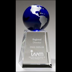 Glass Pedestal Globe award K9124
