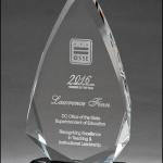 Arrow Shaped Crystal Award K9180