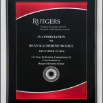 Acrylic Plate on Piano-Finish Plaque P5080