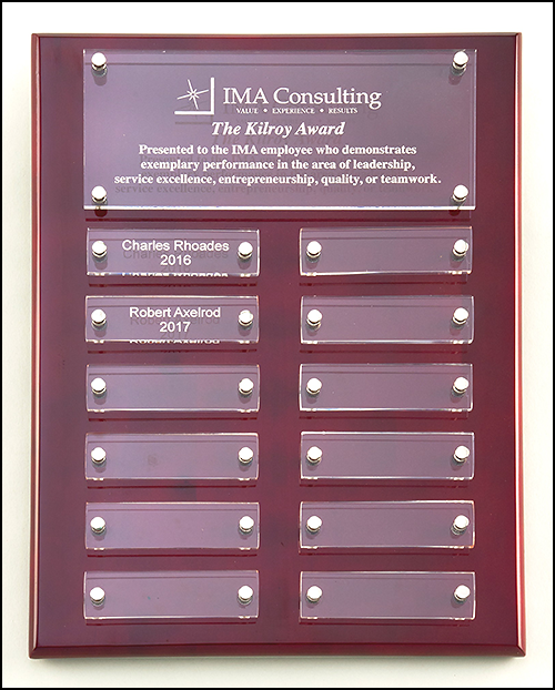 Rosewood & Acrylic Perpetual Plaque P5340