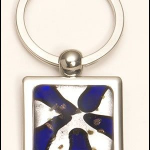 PK296 Violet Art Glass Keyring
