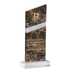 Foray Award - Emperador Marble and Crystal