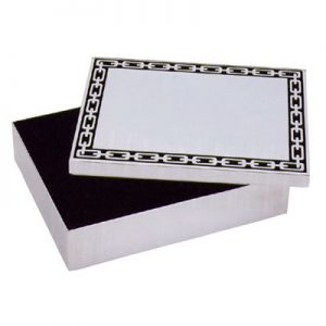Silver Link Box with Midnight Inlay