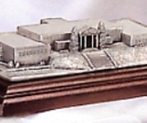 Engravable Custom Pewter Building Replica