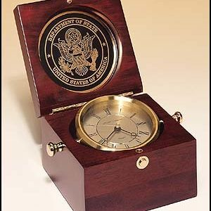 BC73 Captain's Clock in Mahogany-finish Case