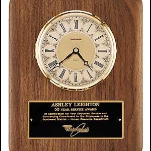 BC888 Walnut Wall Clock with Ornate Ivory Dial