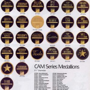 CAM MEDALLIONS