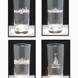 Cincinnati Scene Hiball Glasses