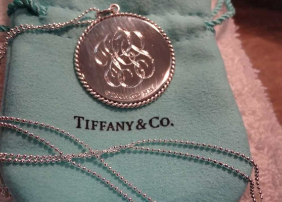 Tiffany & Co. pendant with custom engraving