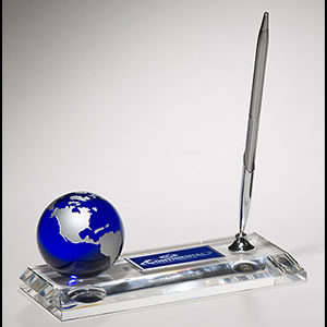 Glass Globe Pen Holder K9105