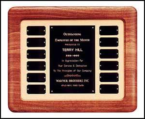 Walnut Framed Perpetual Plaque P1898