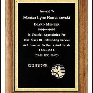 P2923 Black Bound Golden Florentine Plaque