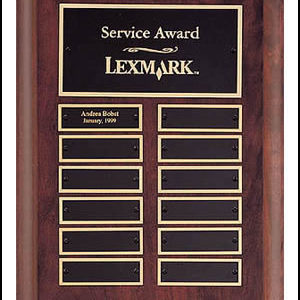 P3528 Cherry Finished Perpetual Plaque